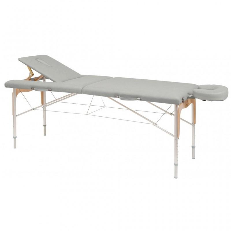 Camilla plegable de patas mixtas (aluminio y madera) 70x182 REF. C-3310-M61