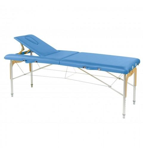 Camilla plegable de patas mixtas (aluminio y madera) 70x182 REF. C-3309-M61