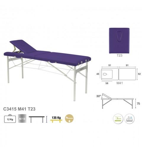 Camilla plegable de patas de aluminio 62x182 REF. C-3415-M41