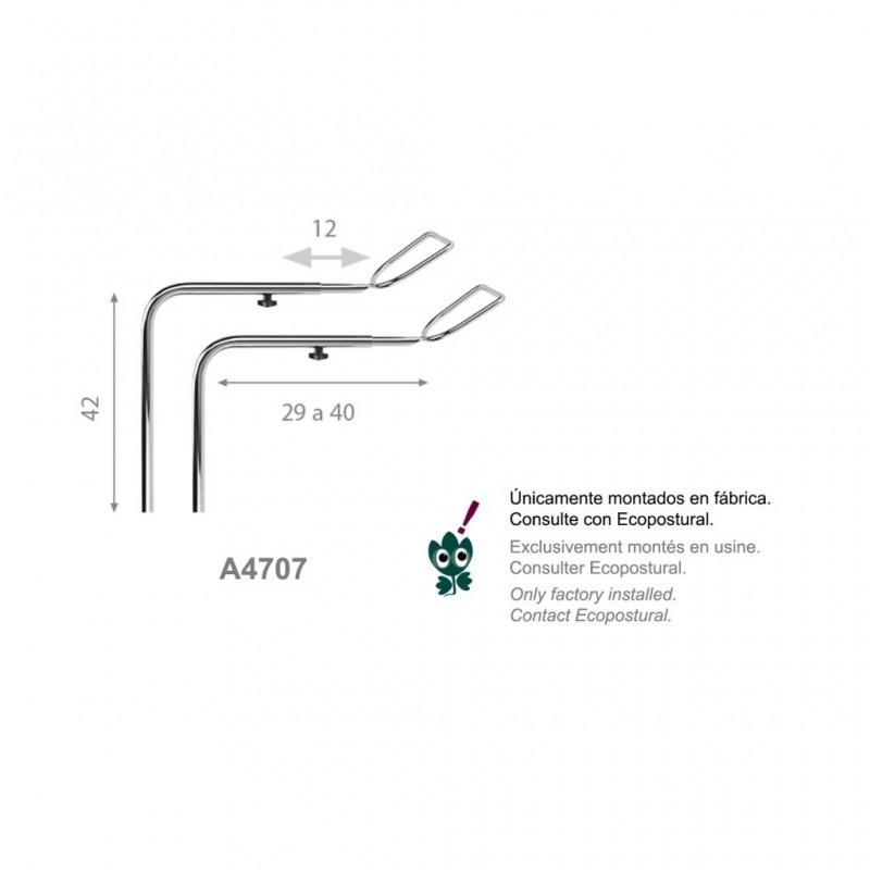 Conjunto estribos de ginecología para camillas Ref: A4707