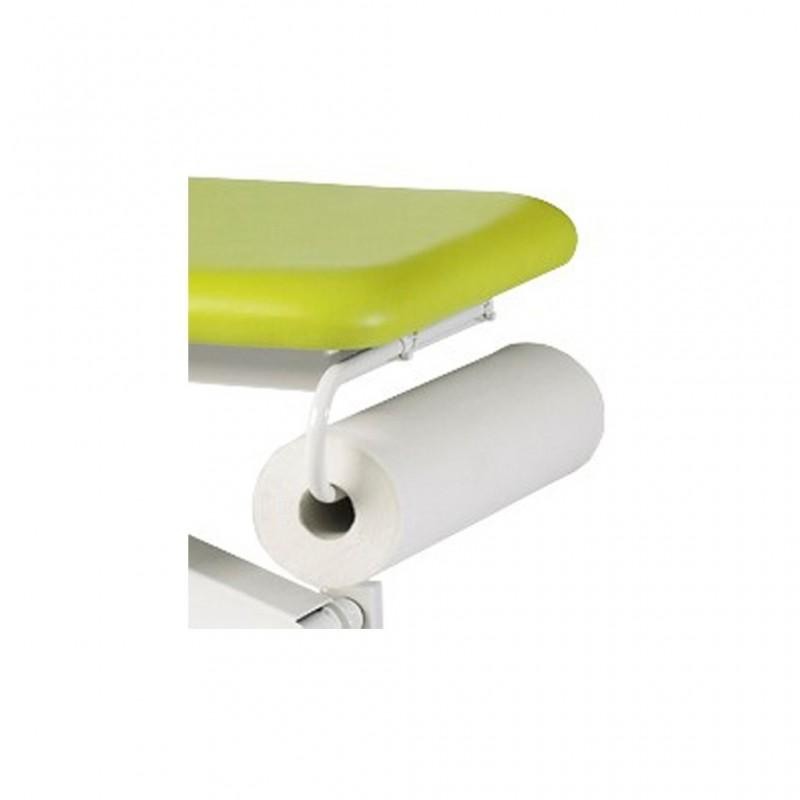 Portarrollos blanco con abrazaderas Ref: A4403B