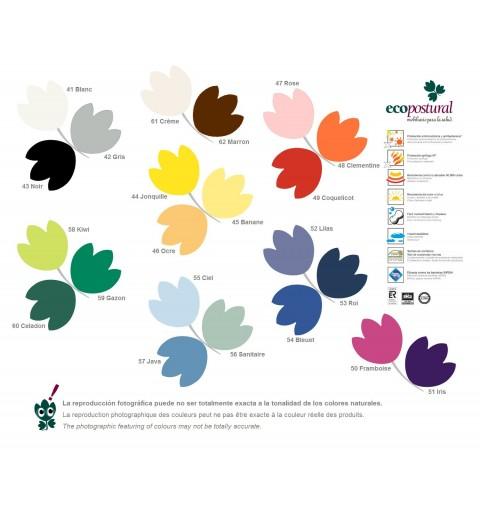 Taburete circular base gris Ecopostural - REF. S-2611 Catálogo   Productos Vista prev