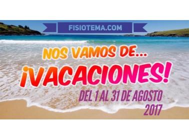 Nos Vamos de vacaciones del 1 al 31 de agosto 2017 | Tienda Online de Material de Fisioterapia Fisiotema.com